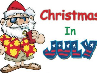 Christmas in July will be at Riverview Park in Sebastian, Florida.