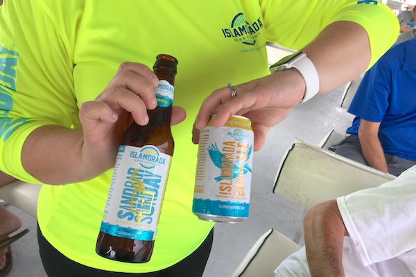 Islamorada served it's signature Ale, and Sandbar Sunday on the cruise.