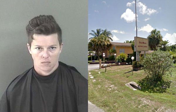 Deputies arrest a woman on a charge of Battery Domestic Violence in Sebastian, Florida.