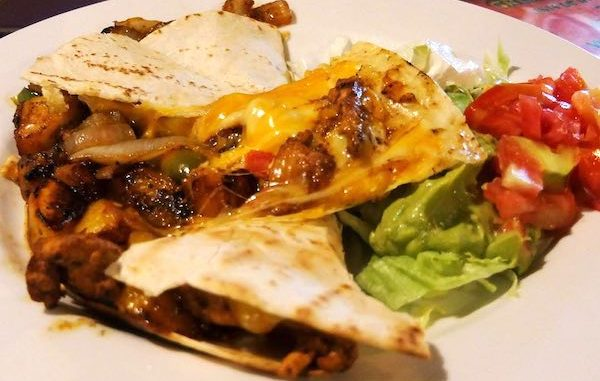 Ay Jalisco Sebastian Mexican restaurant features quesadillas with mango.
