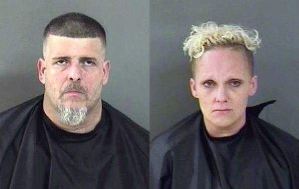 A couple from Micco were arrested Dale Wimbrow Park in Roseland, Florida.