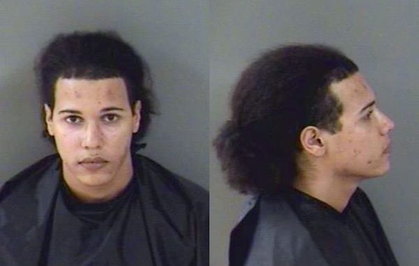 Man kicks dog for eating his food in Vero Beach, Florida.