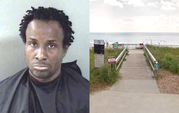 Man seen flashing beachgoers in Vero Beach, Florida.
