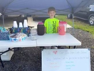 A boy in Vero Lake Estates is raising money to help her neighbors.