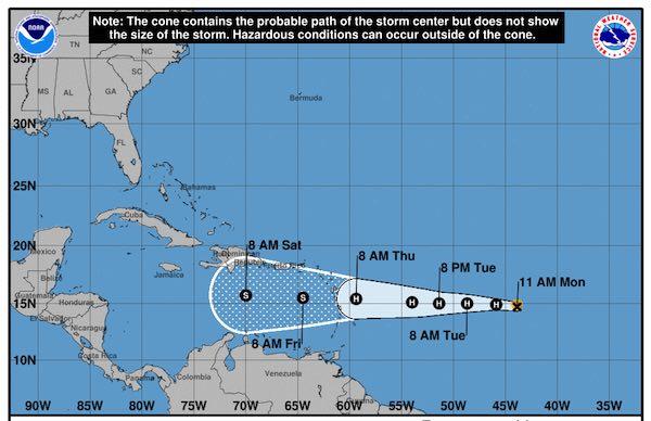 Hurricane Isaac cone tracking.