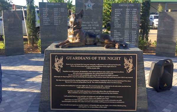 Indian River County Sheriff's Office K-9 dedication memorial.