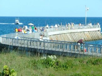 Sebastian Inlet pier to close overnight due to large waves from Hurricane Florence.