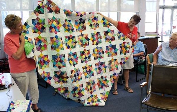 Sebastian Quilter's Guild Presents 155 Quilts to 6 Charities in Sebastian, Florida.