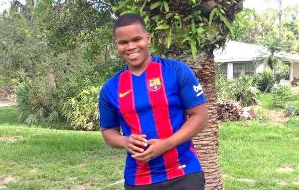 High school student Kamaree Jevon Lyons collapses in Sebastian, Florida.