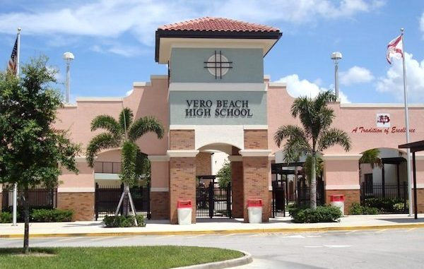 Teen arrested at Vero Beach High School.