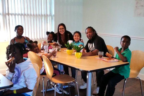 Dr. Marlene Mahipat celebrates her birthday with homeless families & children.
