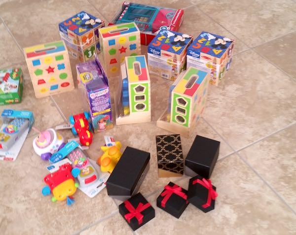 Gifts for homeless children.
