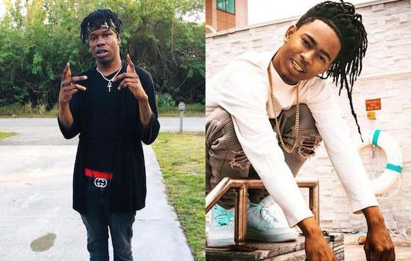 Local rappers YNW Juvy and YNW Sakchaser.