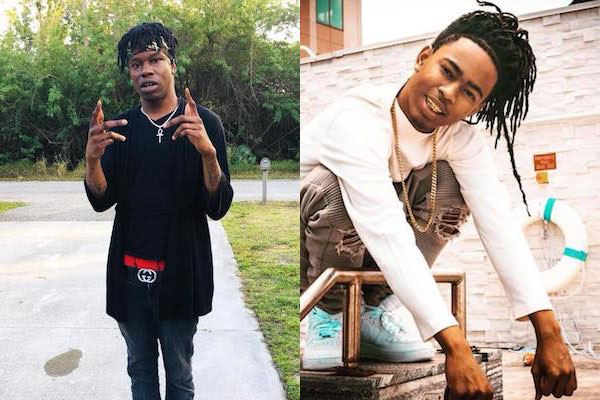 Local rappers YNW Juvy and YNW Sakchaser