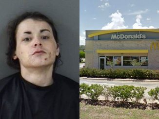 Man damages deputy's patrol car at McDonald's in Sebastian, Florida.
