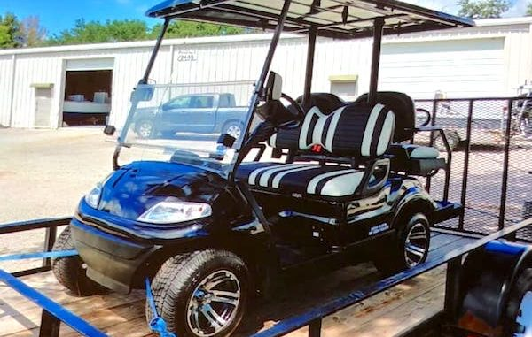 Sebastian River High School rowing team will host a golf cart raffle on Sunday at the Tiki Bar & Grill in Sebastian, Florida.