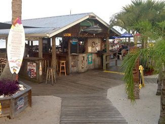 Tiki Bar in Sebastian, Florida.