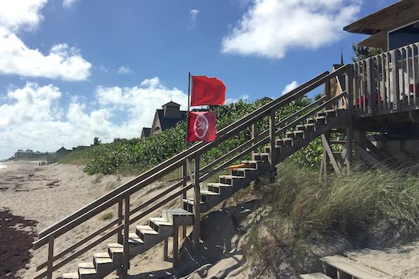 Wabasso Beach closed due to Red Tide.