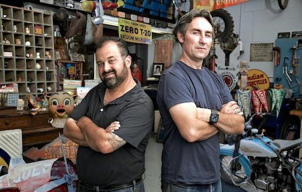 Mike and Frank from the American Pickers TV show looking for leads in Sebastian and Vero Beach, Florida.
