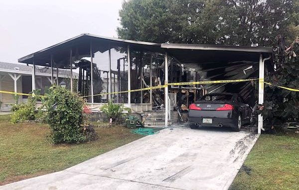 Barefoot Bay man sets house on fire while shooting gunfire in Micco, Florida. (Photo: Zach Broome)