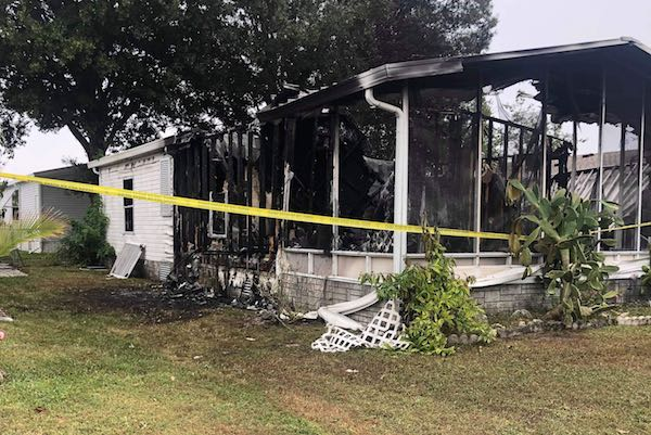 Barefoot Bay home fire. (Photo: Zach Broome)