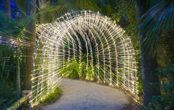 Holidays at McKee Botanical Gardens in Vero Beach, Florida.