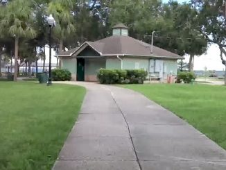 A woman said she was attacked in the women's restroom at Riverview Park in Sebastian, Florida.