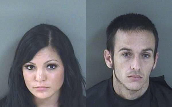 A couple were charged with drug possession in Sebastian, Florida.