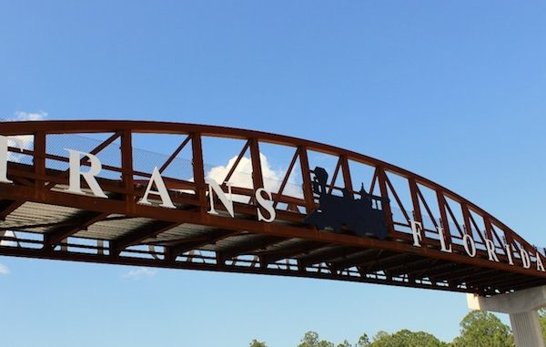 Trans-FL Central Railroad Greenway Pedestrian Overpass in Fellsmere, Florida.