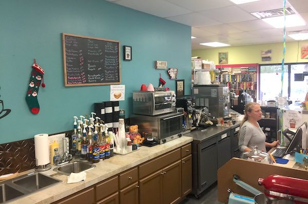 Riverview Coffee, Tea and Books offers a full variety of coffee and tea.