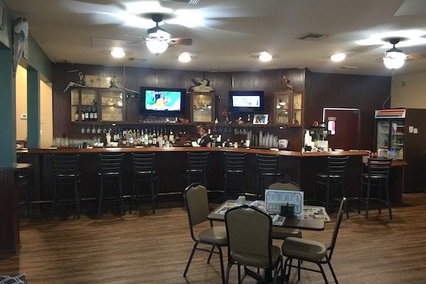 Pelican Diner's sports bar.