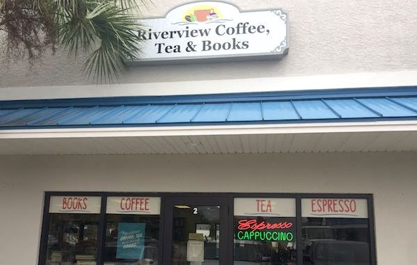 Riverview Coffee, Tea and Books in Sebastian, Florida.