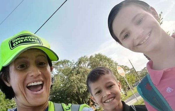 Sebastian crossing guard Tinamarie Ioffredo (left) has been nominated for the 2018 Florida School Crossing Guard of the Year award.
