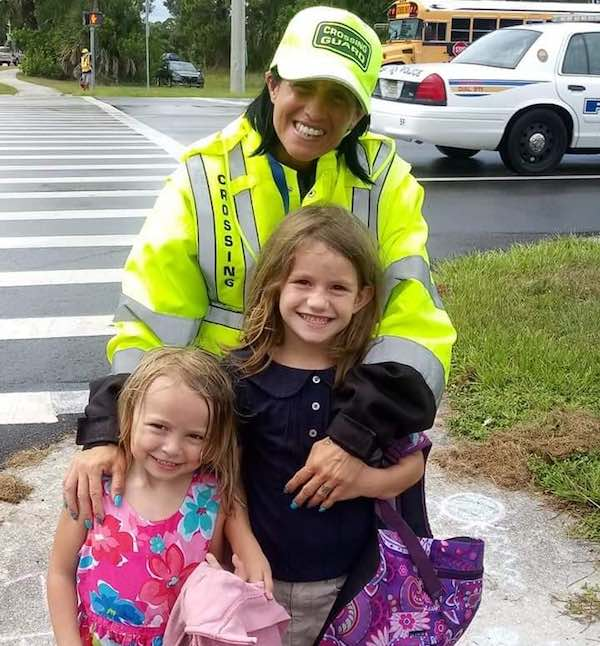 Tinamarie Ioffredo is a crossing guard in Sebastian, FL.