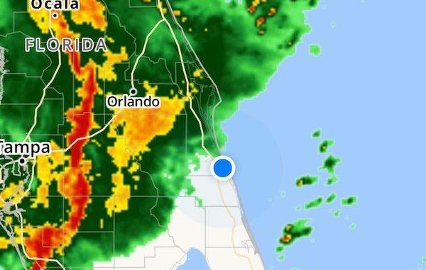 Brace yourselves for thunderstorms in Sebastian, Florida.