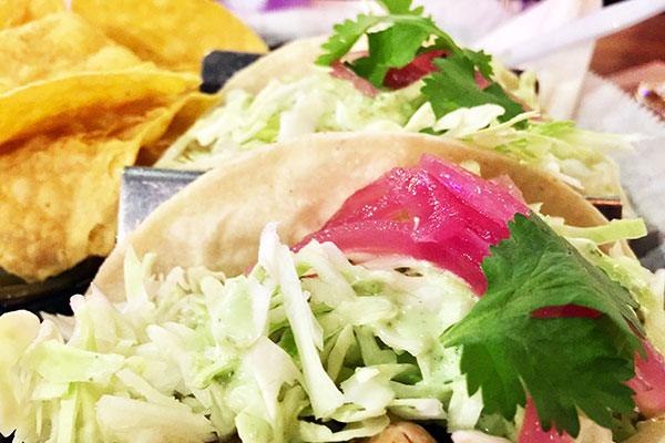 Street tacos have fresh ingredients.