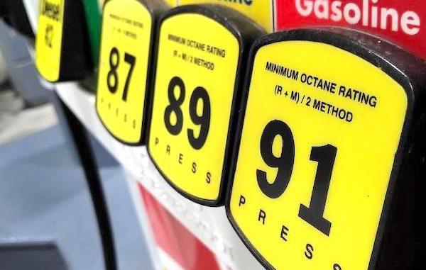 Gas prices in Sebastian, Florida.