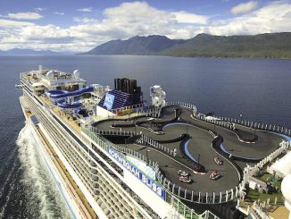 Norwegian Bliss is the biggest cruise ship sailing Alaska.