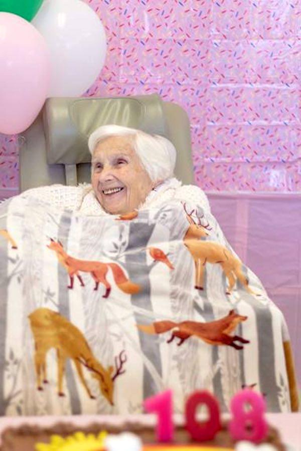 Mrs. O'Connor celebrates 108th birthday.