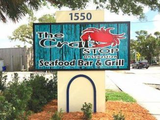 Crab Stop in Sebastian, Florida.