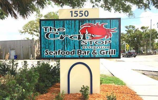 Crab Stop in Sebastian, Florida.