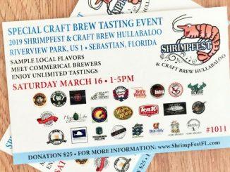 Sebastian Daily giveaway: Craft Beer tasting at Shrimpfest in Sebastian, Florida.