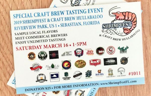 Sebastian Daily giveaway: Craft Beer tasting at Shrimpfest in Sebastian, Florida.