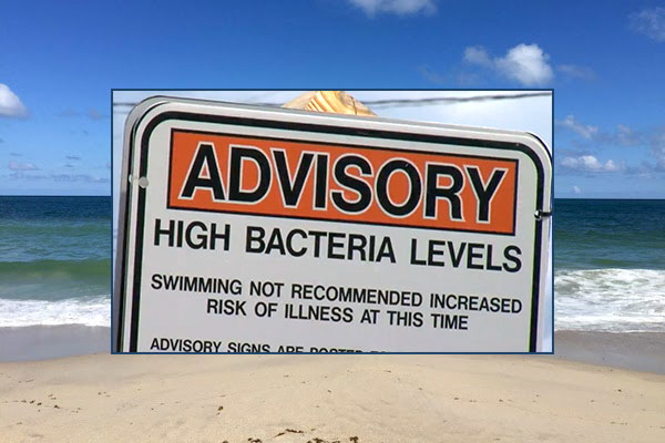 Swimming advisories in Indian River County, Florida.