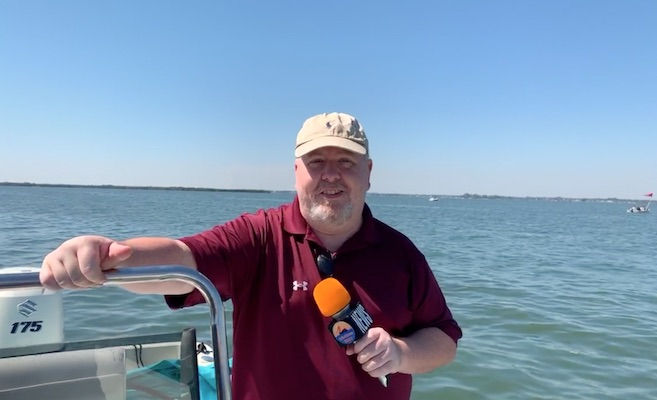 Andy Hodges reporting from Joyce's Dock in Vero Beach.