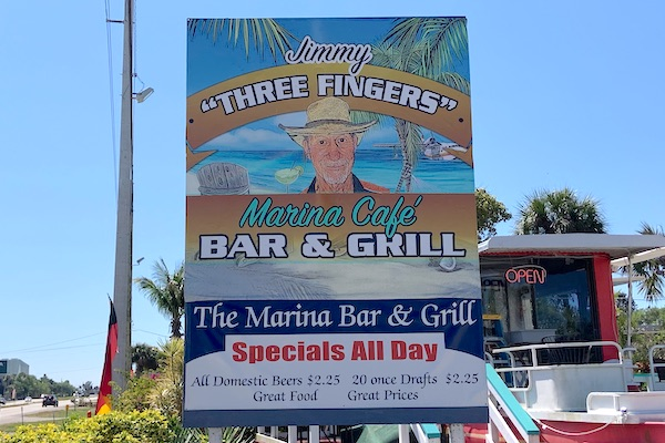 Jimmy Three Fingers on U.S. Highway 1 in Micco, Florida.