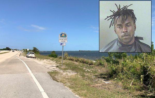 Man seen throwing rocks at vehicles near north county bridge in Sebastian, Florida.