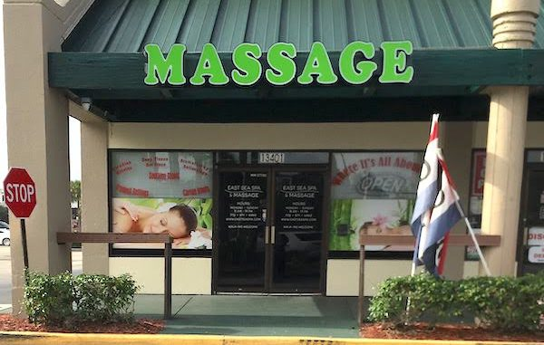 Massage spa raid in Sebastian and Vero Beach, Florida.