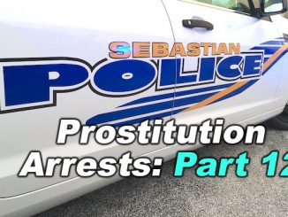 The number of arrests over the weekend in connection to prostitution in Sebastian and Vero Beach was about six men.