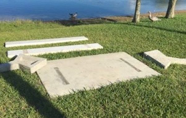 Parents find child's memorial bench torn apart at Easy Street Park in Sebastian, Florida.